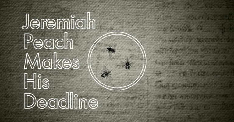 Jeremiah Peach Makes His Deadline